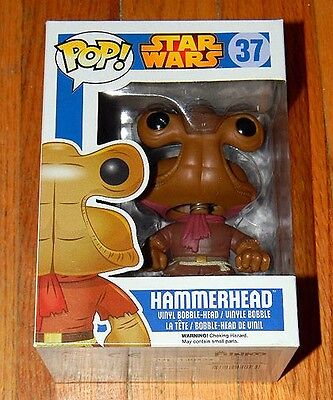 New ~ Funko Pop 37 ~ HAMMERHEAD ~ Star Wars ~ RETIRED Vaulted Rare Out of Print