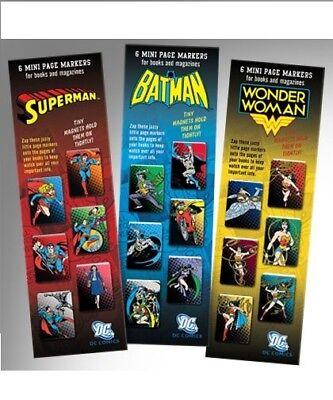 Dc Superhelden Mini Magnetisch Lesezeichen Superman Batman Wonder Woman (Dc Superhelden Zeichen)