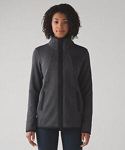 NWT Lululemon It's Fleecing Cold Jacket Heathered Black Size 6