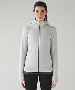 lululemon athletica SCUBA IV grey gray HOODIE zip up jacket 4 XS