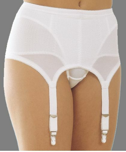 rago six strap medium shaping garter belt stockings white style 72522 to 6x