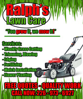 Lawn Care - Grass Cutting - Lawn Fertilizing Package
