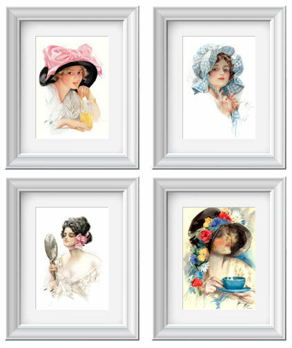 Vintage Victorian Image Women Fisher Decor Art Wall Print ~