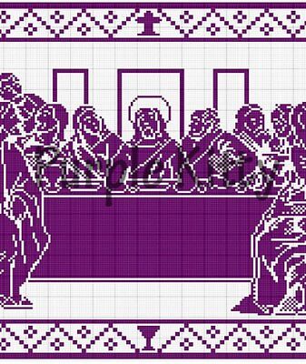 - The Last Supper Filet Crochet Pattern - Vintage Mail Order #CC1