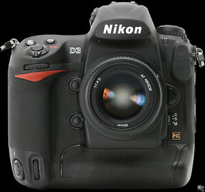 Nikon D3 body, charger and 2 batteries