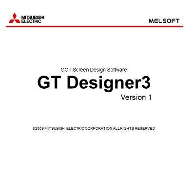 Gt-works3 Gt-designer3 Mitsubishi Hmi Software With Key License Lifetime Soft