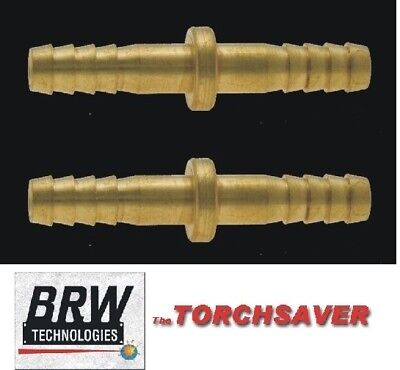 2 Ea-brass Hose Splice-14 Id Hosecutting Torchbrazingwestern44 S-344