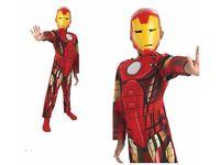 Kids NEW Classic Marvel Superhero IRON MAN Boys 5-6 yrs Fancy Dress Costume SALE