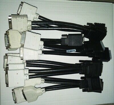 LOT of 10 DMS-59 to dual DVI Splitter Cable (Y Cable Kit)
