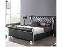 Brand new Verona Chesterfield Style faux leather bed - King size