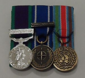 Court-Mounted-Miniature-Medals-GSM-Northern-Ireland-IFOR-UN-Bosnia-Mini