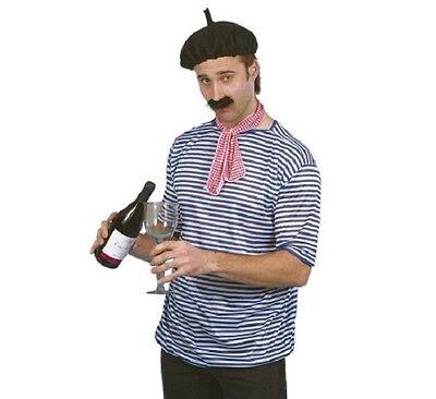 Herren Französisch Kostüm Verkleidung Satz Frankreich Franzose Top Tash - Französisches Barett Kostüm