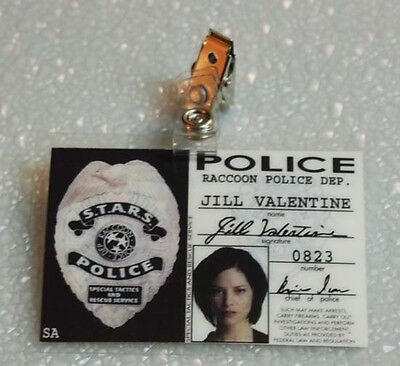 Resident Evil id Abzeichen-Waschbär Polizei Jill Valentin requisite - Jill Valentine Kostüm