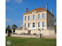 Luxury home with small estate, sunny Saint Emilion, South West France