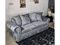 FABRIC/CRUSH VELVET LUXURY CHEAPEST PRICE *GLP SOFA* 3+2/Corner sofa SEATER 14128