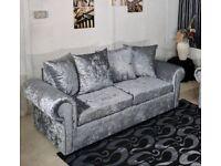 FABRIC/CRUSH VELVET LUXURY CHEAPEST PRICE *GLP SOFA* 3+2/Corner sofa SEATER 14128