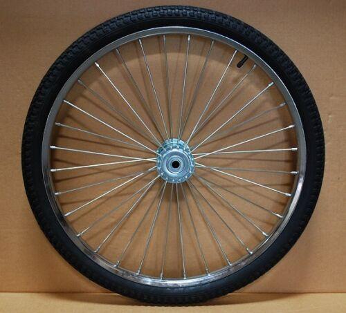 """Pair Horse Cart Wheels/Tires 26""""x2.125""""-5/8""""Axle, 4 3/4"""" Hubs"""