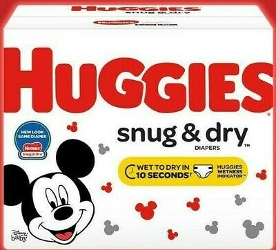 Huggies Snug & Dry Disposable Diapers Size Newborn, 1, 2, 3, 4, 5 *Fast Ship