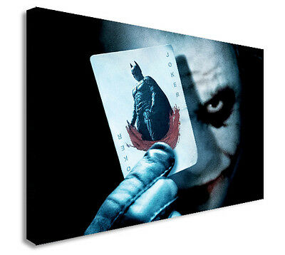 Dark Night Batman (JOKER BATMAN DARK NIGHT  Canvas Wall Art Print. Various Sizes )