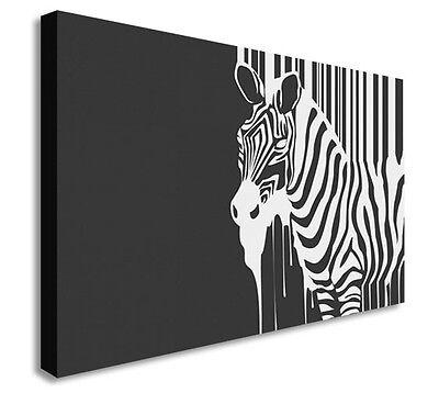 Black And White Graffiti Zebra Paint Wall Art Canvas Prints Art (Black And White Canvas Wall Art Cheap)