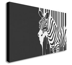 black and white graffiti zebra paint wall art canvas