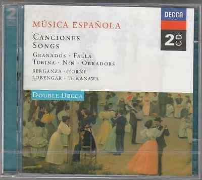 MUSICA ESPANOLA CANCIONES BERGANZA HORNE LORENGAR TE KANAWA - 2 CD