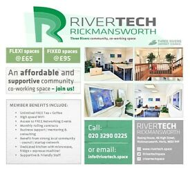 Co Working / Office space available at RIVERTECH, Rickmansworth, WD3 1HP - Prices from £65/month!
