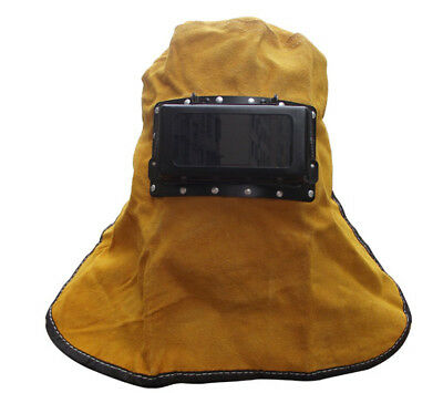 Leather Welder Electric Welding Sandblaster Hood Helmet Mask Dust Protective Len