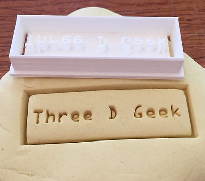 Personalized Rectangular cookie cutter with name or words imprint - US -