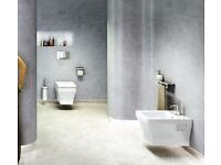 Britton Bathrooms Cube S20 Wall Hang WC with Soft Close Seat