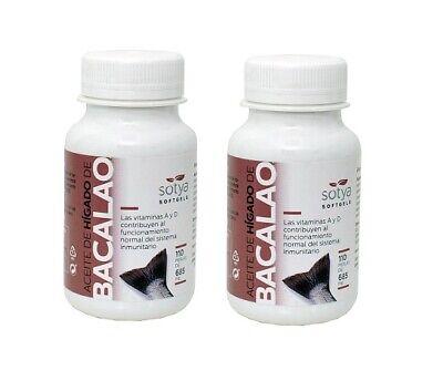 Aceite de higado de bacalao 685 mg 2x110 perlas SOTYA salud cardiovascular