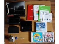 NINTENDO 3DS BUNDLE ☆BOXED CONSOLE☆3 GAMES☆OFFICIAL CARRY CASE☆CHARGING CRADLE☆