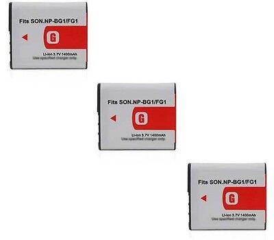 Power-2000 Three 3x Batteries Np-bg1 Bp-bg1 Np-fg1 For So...