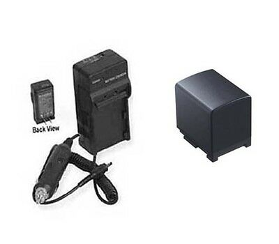 BP-820 Battery + Charger for Canon VIXIA HF G30 XA20 XA25 Camcorder
