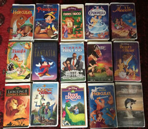 35 Disney VHS movies for sale!