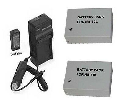 Two 2 Batteries + Charger For Canon Powershot G1 X G15 Sx...
