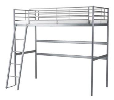 Single loft bed frame