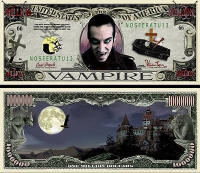 Le Vampire Geldschein Dollar US ! Halloween Dracula Serie Horror Monster