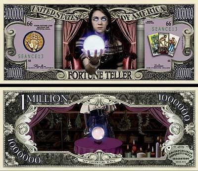 Wahrsager Geldschein Dollar US ! Sammlung Voyante Tarot Halloween Horror