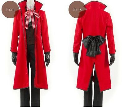 Jack Black Costume (Black Butler Kuroshitsuji Jack the Ripper Grell Sutcliff Outfit Cosplay)