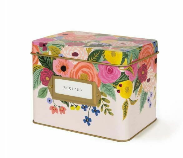 Rifle Paper Co. Recipe Box Juliet Rose Free S/H