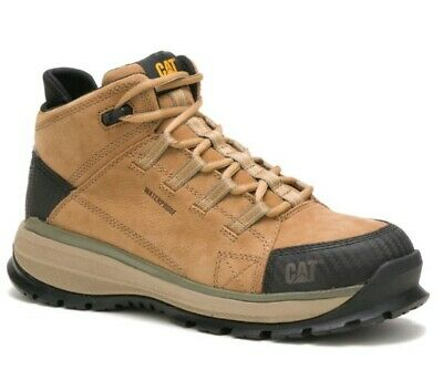 New Caterpillarcat Utilize Mens Sandtan Alloy Toe Waterproof Wide Work Boot
