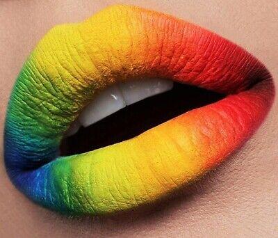 ROSSETTO labbra UV fluorescente, brillantini e VAMP make-up viso bocca scegli!