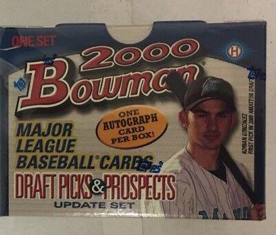 2000 Bowman Draft Picks and Prospects Update Factory Sealed Baseball Box Set 2000 Bowman Baseball Card