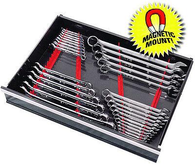 ERNST 6014M RED 40 Tool  Wrench Organizer Rail  Kit w/ Magnet Mount