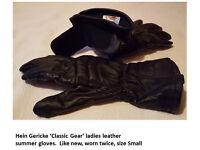 Ladies Hein Gericke Leather Gloves, Size S.