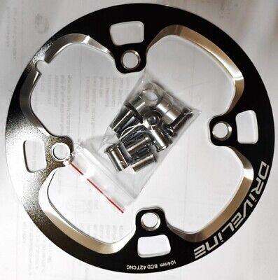 BLACK Driveline Chain Guard MTB Bike 42T BCD 104 mm Shimano MTB 3x10