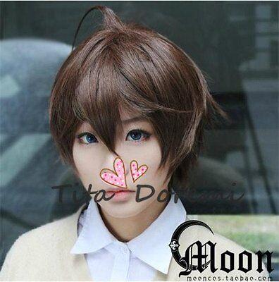 Halloween Wig Hair Cosplay chuunibyou demo koi ga shitai  brown short party Wigs