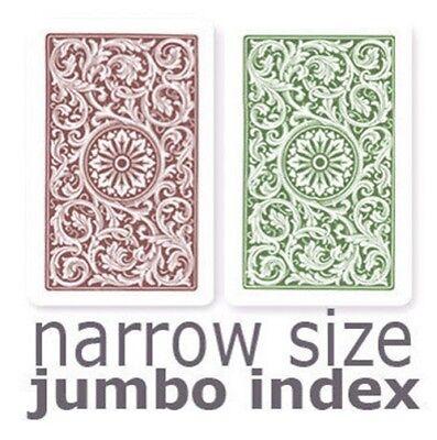 (Copag 1546 Green & Burgundy  Narrow - Jumbo Index Playing Cards)