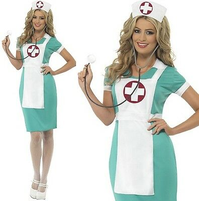 Ladies Scrub Nurse Fancy Dress Costume Womens Nurses Outfit by Smiffys New